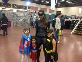 Catwoman and her little fans by Romantically-Geeky