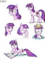 Twilight Sparkle Sketchdump by ChocolateStarfire