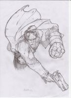 Hellboy Sketch - Pencil A4 by IgorChakal