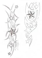 Tattooflash Tribal Stars by 2Face-Tattoo