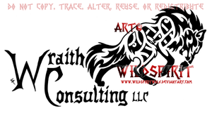 Wraith Consulting Wolf Logo by WildSpiritWolf