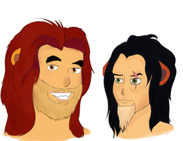 TLK Mufasa and Scar Humanified by aLameUserName