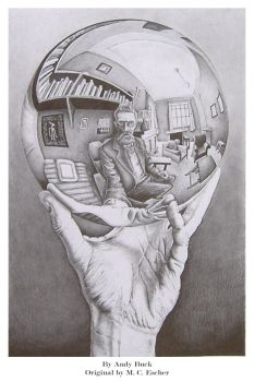 Eschers Hand and Sphere by AndyBuck