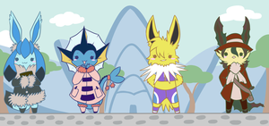 Eeveelution Girls by Venomouswolf