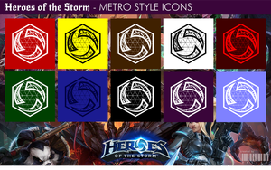 Heroes of the Storm - Metro Style Icons by xmilek