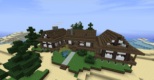 Japanese themed beach house (Minecraft) by NiegelvonWolf