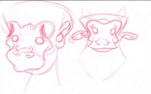 monkey sketches by VACANAL