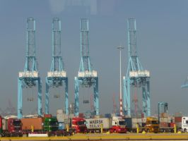 Container Terminal-Rotterdam by Ni3nk3