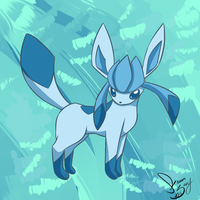 Glaceon doodle by lalaraptor