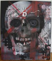 cranium on canvas by graynd