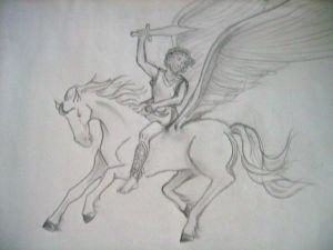 Pegasus and Rider