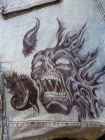 Demon on my shorts by Proteusz