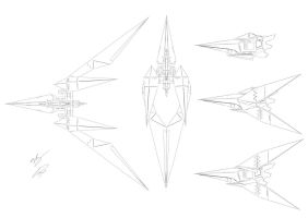 Assault Arwing Line Art by GunZcon