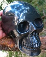 Hematite Skull 001b by SKULLKRAFT
