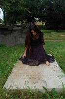 Girl in Cemetery 12 by InTenebris-Stock