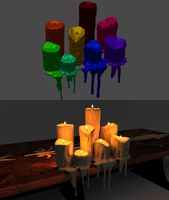 8 Melting Candles for XPS by Just-Jasper