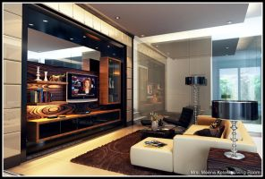 Mrs. Meena Kelash Living Room by satriobajuhitam