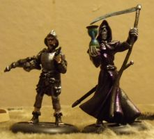 Death and Vimes Miniatures by theTwistedman