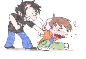 Beating up Chris by TeslaMarcia