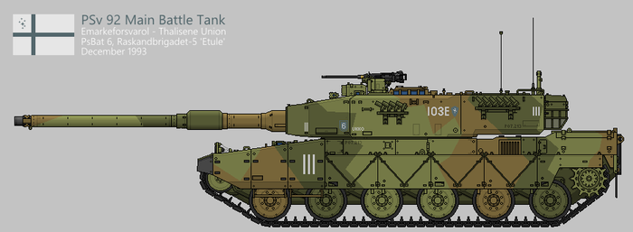 PSv 92 Main Battle Tank - Production [Coloured] by SixthCircle