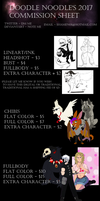 Commission Sheet 2017 by Dragon-Scratch