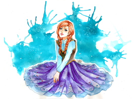 Anna from Frozen by utenaxchan