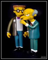 Burns and Smithers by Eccoton