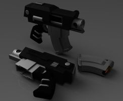 Forgeworld Bolt Pistol by ClaireGrube