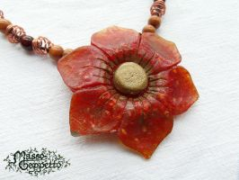 BIG FLOWER PENDANT in Resin by MassoGeppetto