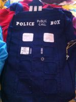 Tardis Backpack Picture One by dwarvenbarbarianrage