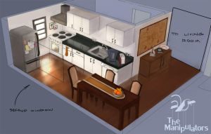Kitchen Concept Art by Vatsel