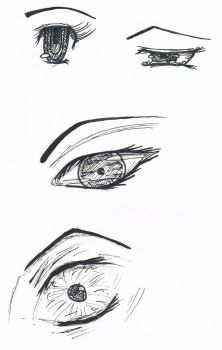 Eyes - Expression practice by Nastjuschechka
