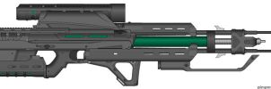 M-98 Gauss Rifle by EckoSeven