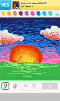 Sunset - Draw Something by Usei