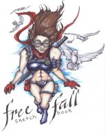 Free Fall: Sketchbook Cover by BankyOne
