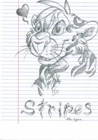 Stripes in Pencil by VintageWolf