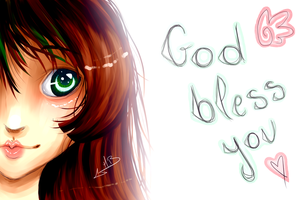God bless you by Oo-Red-Kitty-oO