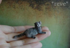 Handmade Miniature Ferret  [Photo No 2] by ReveMiniatures