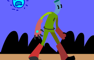 Mr.B Walk Cycle (FINISHED) by RodPopper