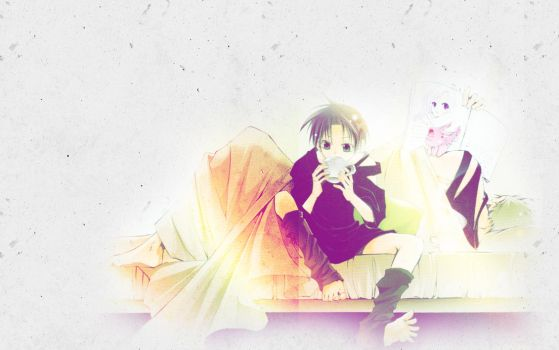 Frau and Teito wallpaper by wacchi