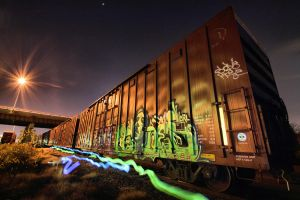 Railcar Lightpainting by aRt2faKt