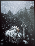 Odin's steed. by Snow-sauria