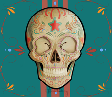 Meesee153 Commission - Sugar Skull by Flesh-Odium