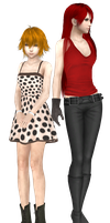 Smile and Liye in Final Fantasy Style + Download by ChochoYatori