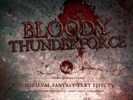 Bloody Thunderforce - Medieval Fantasy Text Effect by Doomsillustration