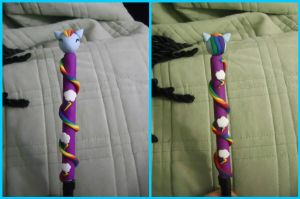 Rainbow Dash Polymer Clay Pen by ResurrectedVampire69