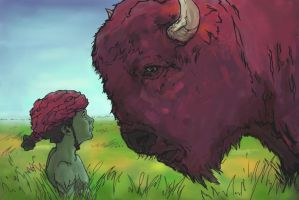 atreyu and the purple buffalo by JaredSalmond