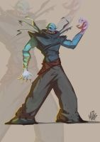 Undead mage fighter guy thing by thisisnotnoah