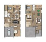 Plano 2 ranch blue ash plans by TALENS3D