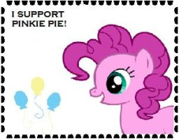 I Support Pinkie Pie Stamp by Teamscout11